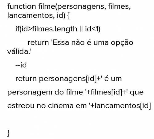 var personagens = [Hermione, Trinity, Leia] var filmes = [Harry Potter, Matrix, Star wars